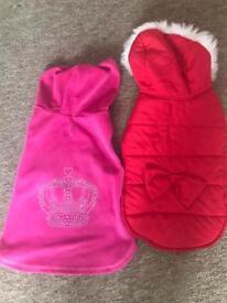 Girl dog coats size medium