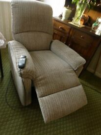 Recliner armchair - double action