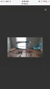 Glass dining table with 4 chairs reduced