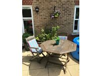 Wooden dining set (table and 3 chairs)
