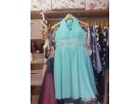 Blue halterneck dress