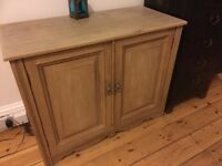 Vintage antique Victorian stripped pine cabinet cupboard waxed