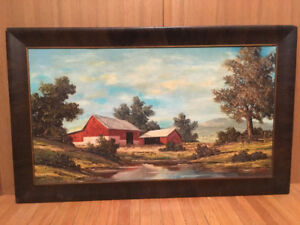 David C. Drum The Red Barn oil painting