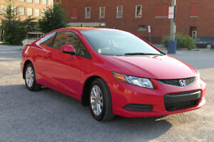 Private Sale - 2012 Honda Civic EX Coupe (2 door) - Red+Options