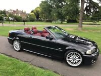 **AUTOMATIC RED LEATHER CONVERTIBLE** BMW 330Ci M Sport