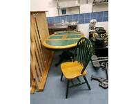 Tiled table with 3 chairs