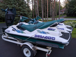1997 Seadoo GTX (qty 2) for sale with trailer