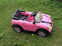 Mini Cooper kids ride on car