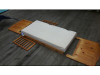 Toddlers wooden bed with mattress