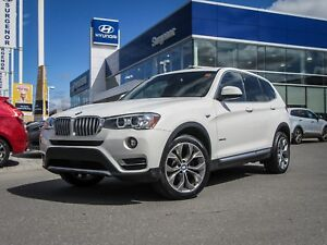 2017 BMW X3 PREMIUM W/ NAV, PANO ROOF **TRUSTED SURGENOR BRAND