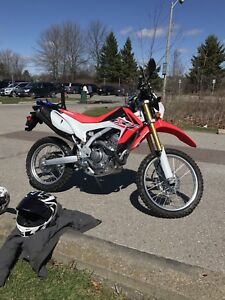 2016 Honda CRF250L low kms extended warranty