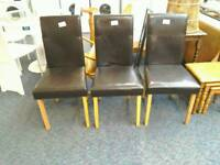 3 dining room chairs #29322 £8 #29323 £8 #29324 £8