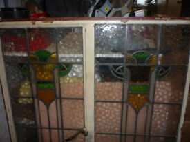 Crittal Fame stain glass window with Opener