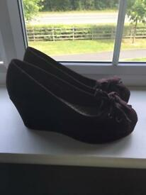White stuff Wedge shoes, only worn twice, size 5 38