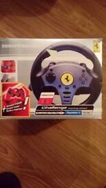 Ferrari Thrustmaster challenge racing wheel and pedals for Playstation 2 and PS one