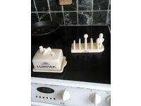 Vintage LURPAK Butter dish and toast rack