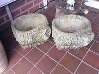 2x large cotstone garden patio planters