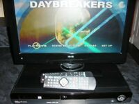 WHARFDALE 14inch LCD TV AND HDD/DVD PLAYER & DVDS