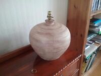 Large Earthenware Table Lamp (lightshade included)