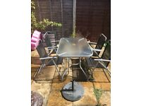 Garden table and chairs for 6