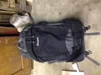 Berghaus black 65L rucksack, with wheels.