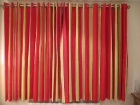 Curtains length 170cm total width 520cm