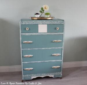 Char antique dresser