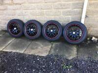 15 inch black alloy wheels 4 stud multi stud