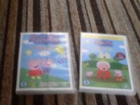 PEPPA PIG AND THOMAS THE TANK ENGINE DVDS