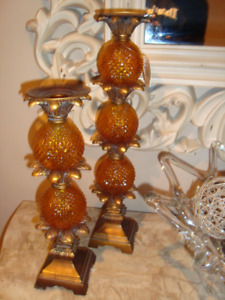 Brand New !!! Two Piece Candle Holder Set