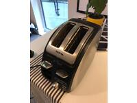 2 slice silver tefal toaster