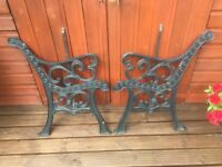 A Pair of Bench Ends