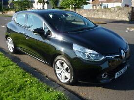 Renault Clio 0.9 TCE 90BHP ECO DYNAMIQUE MEDIANAV **High Spec Model** (black) 2014
