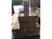 Delipak 4FC containers with lids - 3000 in total