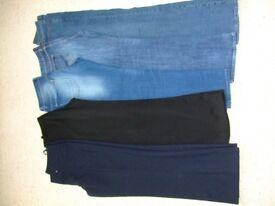 Bundle of women's Size 10 trousers/jeans