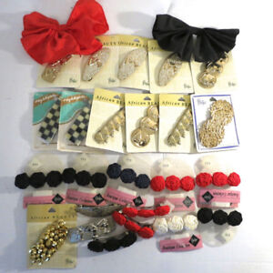Lot 37+ Vintage Hair Clips Bows Afican Beauty Philps Barrett
