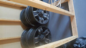 20 inch black iron rims. For dodge 8 bolt