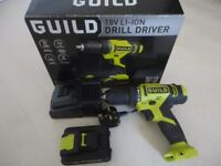 Guild 18V Li-Ion Drill Driver 1Hr Quick Charge
