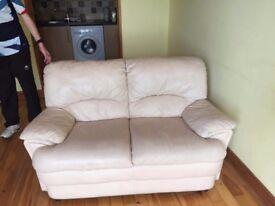 White 2 seat sofa