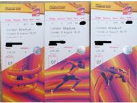 IAAF World Championships London 2017 | Tue 8th Aug | 3x seats | Category A