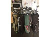 4golf bags with around 70 clubs