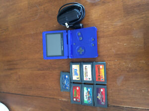 Gameboy Advance SP With Charger and 7 Games