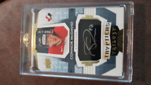 Connor Mcdavid UD Trilogy Tryptichs Auto # to 20!