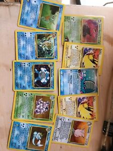Pokemon cards, including some base set holographic.