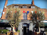 Bar staff needed for Good Companions Pub, seven dials