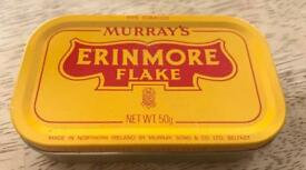 Vintage erinmore flake tin