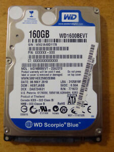 """WD Blue 160 GB Mobile Hard Disk Drive -  2.5"""""""