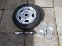 Chevrolet Spark Unused Spare Wheel and jack etc, plus used mats and seat covers