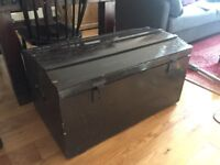 vintage wood trunk / chest perfect for storage
