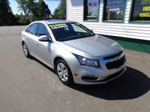 2015 Chevrolet Cruze 1LT for only $135 bi-weekly all in!